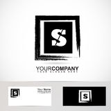 Letter S logo grunge square Stock Photos