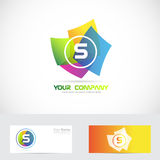 Letter S logo. Vector company logo icon element template of alphabet letter S 3d with business card vector illustration