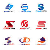 Letter S logo vector set design Royalty Free Stock Images