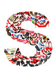 Letter S made of shoes. Letter S made of female shoes stock illustration