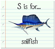 Letter S is for sailfish Royalty Free Stock Photography