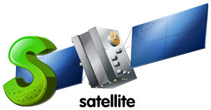 A letter S for satellite Royalty Free Stock Images