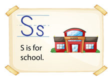 A letter S for school Royalty Free Stock Image