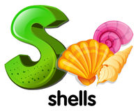 A letter S for shells Stock Photography