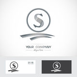 Letter s silver grey logo Royalty Free Stock Images