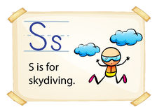 A letter S for skydiving Stock Image