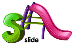 A letter S for slide Stock Photo