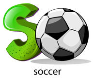 A letter S for soccer Royalty Free Stock Photos