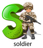 A letter S for soldier Stock Photos