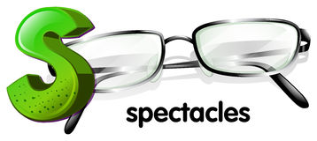 A letter S for spectacles Royalty Free Stock Photography