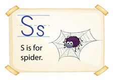 A letter S for spider Royalty Free Stock Images