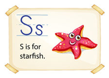 A letter S for starfish Stock Images