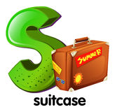 A letter S with a suitcase Stock Photo