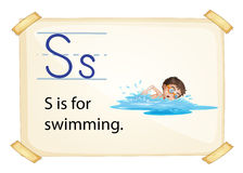 A letter S for swimming Royalty Free Stock Photo
