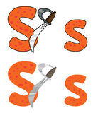 Letter S sword. Illustration of a letter S sword vector illustration