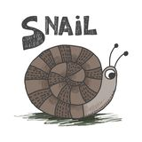 S for Snail royalty free illustration
