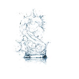 Letter S of water alphabet Royalty Free Stock Image