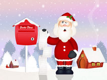 Letter of Santa Claus Stock Photo