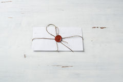 Letter with seal on table Royalty Free Stock Photo