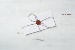 Letter with seal on table Royalty Free Stock Photography