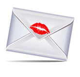 Letter sealed with a kiss Stock Photo