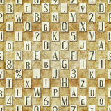 Letter seamless texture Royalty Free Stock Images