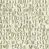 Letter seamless texture Royalty Free Stock Image