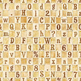 Letter seamless texture Royalty Free Stock Photography