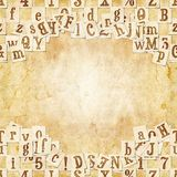 Letter seamless texture with space for text Stock Image