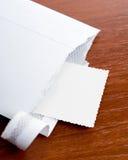 Letter sending opened Stock Photo