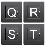 Letter series Q to T from mechanical scoreboard Royalty Free Stock Photo