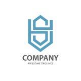 Letter SH logo vector. Illustration template, letter SH trend logo vector, creative Letter SH letter logo Stock Photo