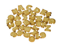 Letter shape crackers Royalty Free Stock Images