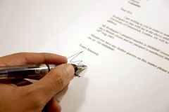 Letter Signature 2 Royalty Free Stock Photography