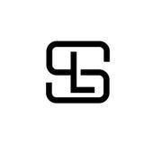 Letter SL logo concept. Creative monocrom concept letter S, SL, letter LS flat black color logo design royalty free illustration