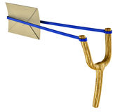 Letter and slingshot Stock Photo
