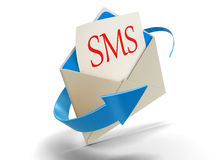 Letter SMS (clipping path included) Royalty Free Stock Image