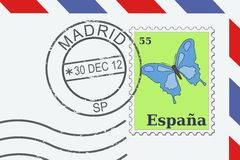 Letter from Spain Stock Photo