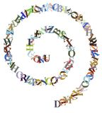 Letter Spiral Royalty Free Stock Photos