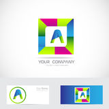Letter A square logo Stock Photos