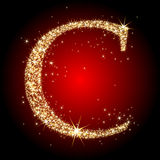 Letter star C Stock Images