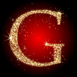 Letter star G Stock Photography
