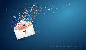 Letter of surprise  on blue background. Stock Photo