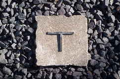 The letter T. Formed in metal Stock Images