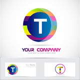 Letter t colors logo Royalty Free Stock Photo