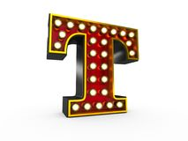 Letter T 3D Broadway Style Stock Photos
