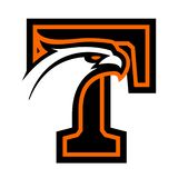 Letter T with eagle head. Great for sports logotypes and team mascots vector illustration