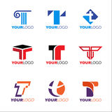 Letter T logo vector set design Royalty Free Stock Photography