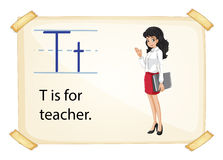 A letter T for teacher Royalty Free Stock Images