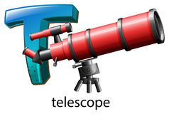 A letter T for telescope Stock Photo